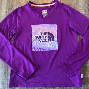 The North face Girls Long Sleeve Purple Top Tee
